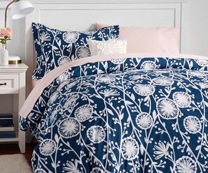 bedding, duvet, and flowers image