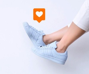 blue, outfit, and adidas superstar image