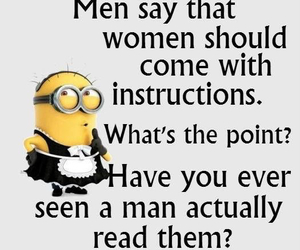 funny, instructions, and men image