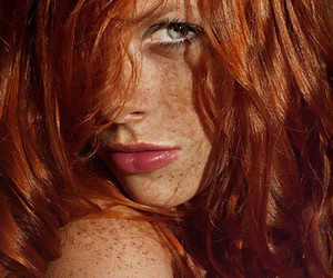 redhead, freckles, and ginger image