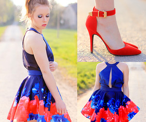 blue, red, and floral image