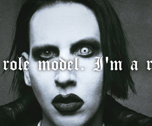 black and white, facebook, and Marilyn Manson image