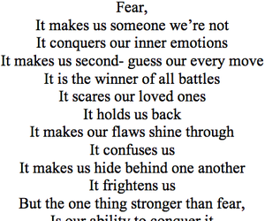 fear, conquer, and quote image