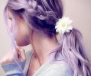color, flower, and hair image