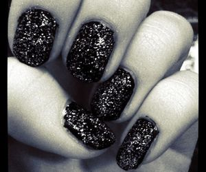 black, fingers, and glitter image
