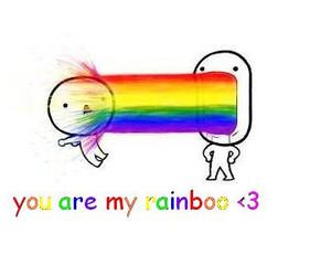 rainbow, cute, and love image