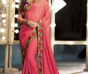 bollywood, indian, and saree image