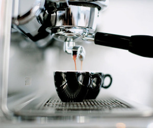 coffee, black, and drink image