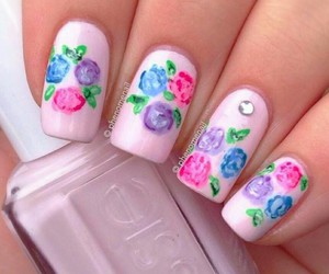 fashion, nails art, and floral image