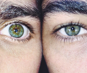 eyes, green, and boy image