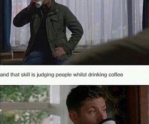 supernatural, coffee, and dean winchester image
