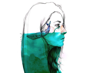 girl, art, and cry image