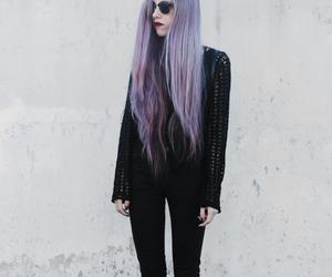 black, hair, and girl image