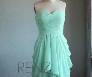 beautiful, dress, and mint blue image