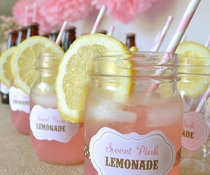 lemonade, pink, and drink image