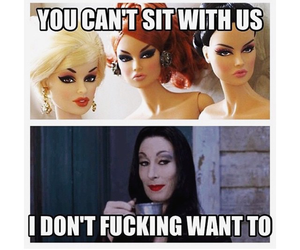 barbies, black, and the addams family image