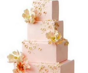 cute, flowers, and wedding cakes image