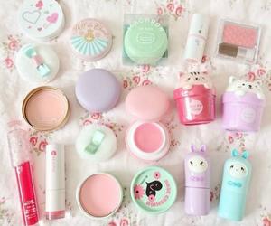 kawaii, makeup, and pink image