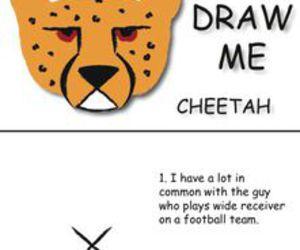 art, cheetah, and diy image