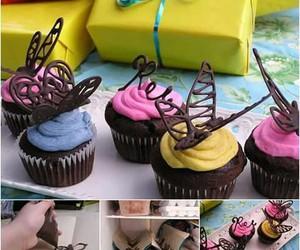chocolate, cupcake, and diy image