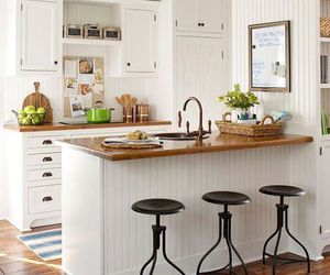 kitchen, white, and little space image