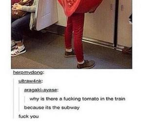 funny, subway, and lol image