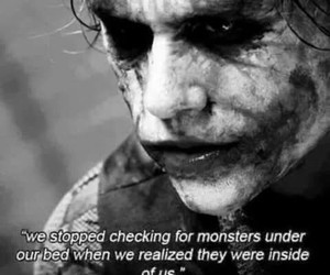monster, joker, and quotes image