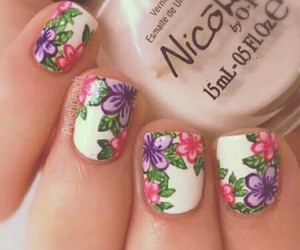 fashion, floral, and nails image