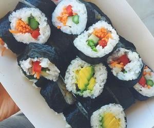 sushi, food, and vegan image