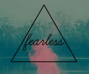 fearless, pink, and triangle image