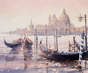 art, city, and italy image