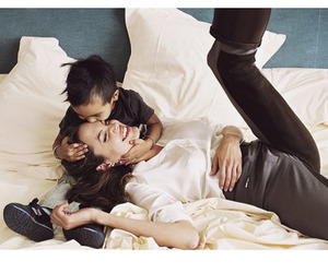 family, Angelina Jolie, and love image