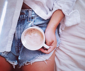 coffee, shorts, and tan image