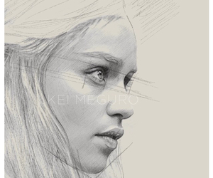 game of thrones, mother of dragons, and drawing image