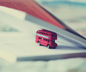 bus, book, and red image