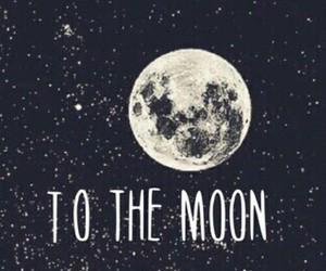 moon, wallpaper, and stars image