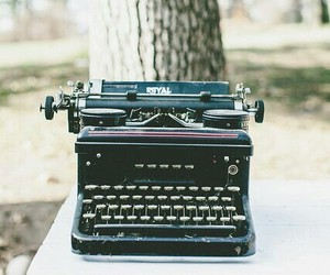 vintage, typewriter, and hipster image