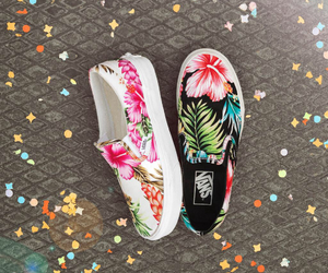 floral, style, and vans image