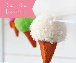 diy, ponpon, and icecream garland image
