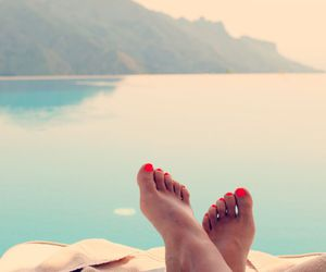 beach, vacation, and book image