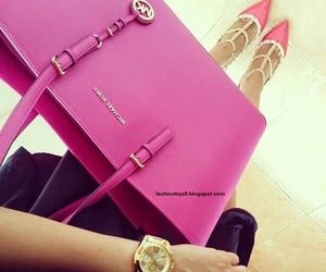 pink, fashion, and Michael Kors image