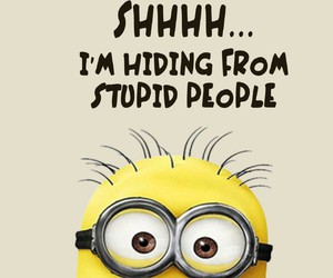 minions, funny, and shh image