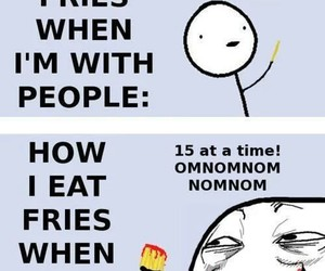 funny, fries, and lol image