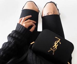 fashion, black, and YSL image
