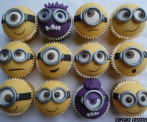 minions, cupcake, and yellow image