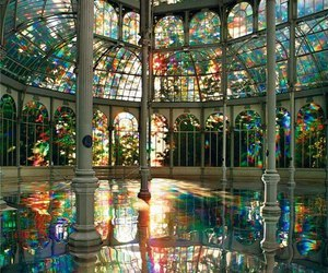 madrid, palace of cristal, and kimsooja's photography image