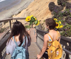 friends, aesthetic, and beach image