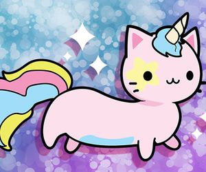 kawaii, unicorn, and cat image