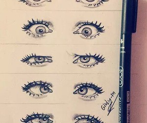 art, eyes, and artist image