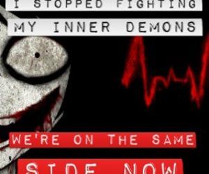 demons, fighting, and creepypasta image